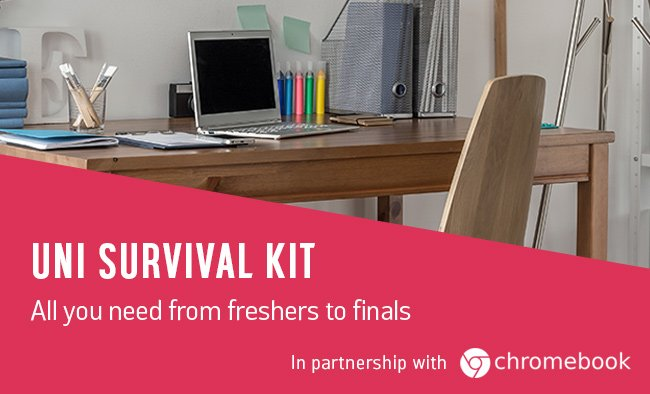 Uni survival kit. All you need from freshers to finals.