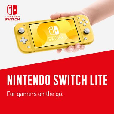 Nintendo Switch Lite. For gamers on the go.