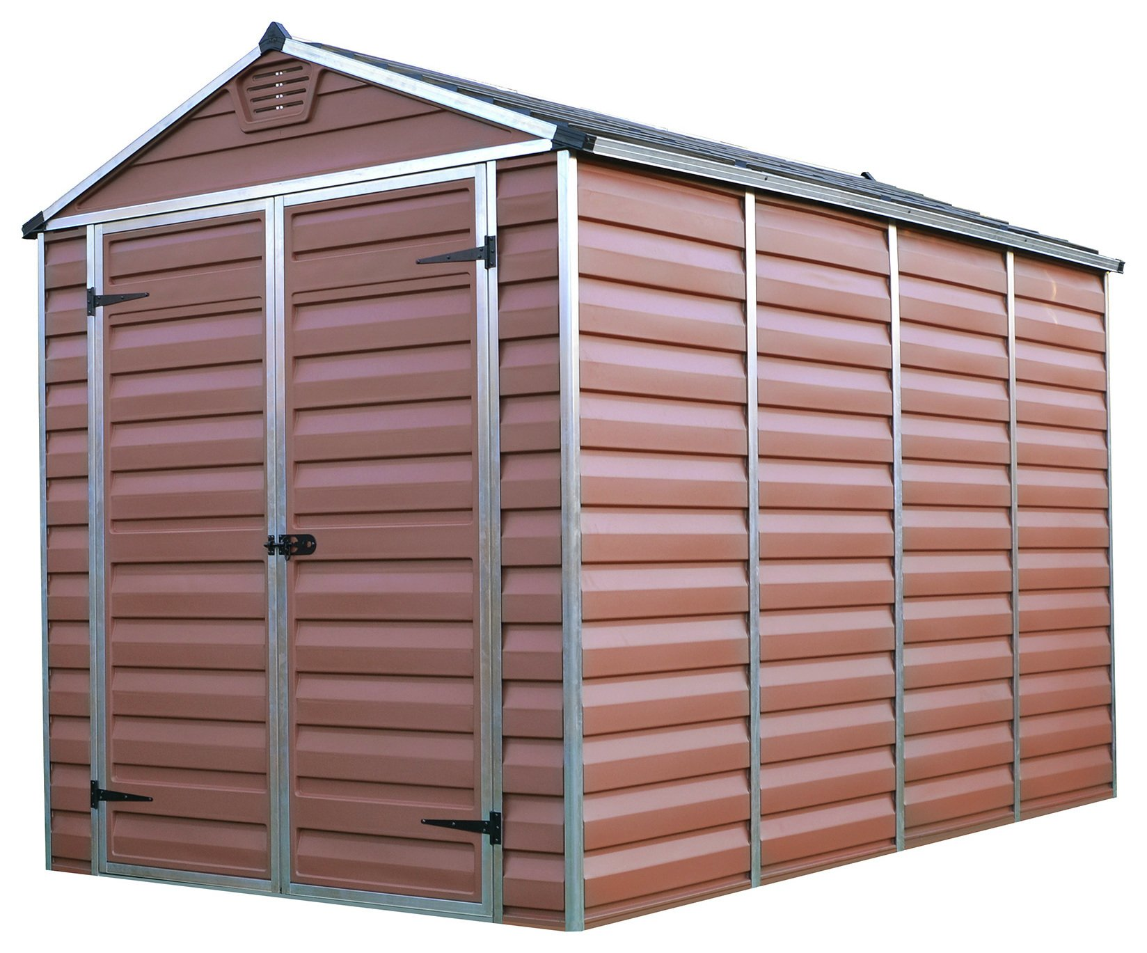 Palram Skylight Plastic 6 x 10ft Garden Shed - Amber Best Price, Cheapest Prices
