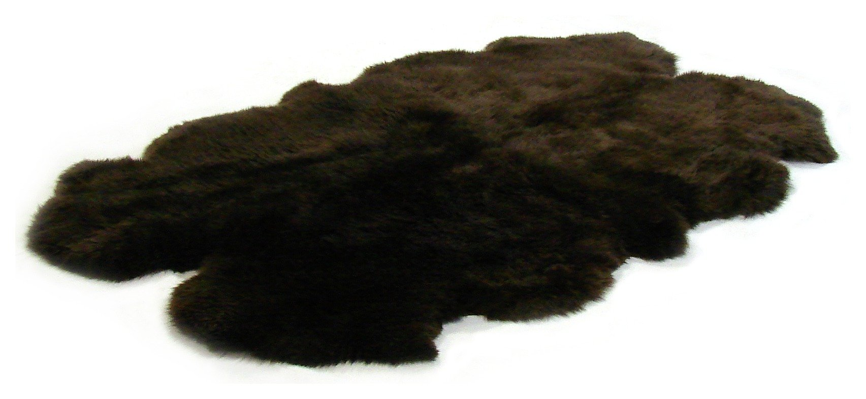 Image of Bowron Sheepskin Longwool Rug - 110x180cm - Chocolate