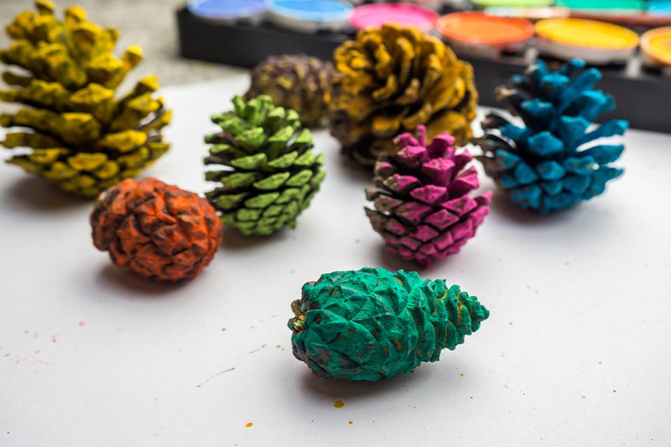 Pine cone painting.