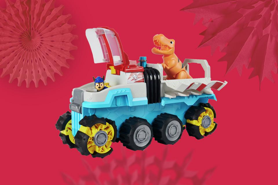 PAW Patrol Dino Rescue Motorised Dino Patroller Team Vehicle.