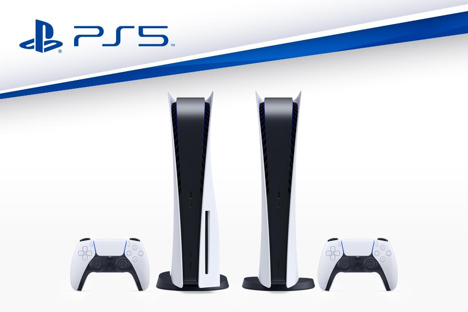 PlayStation 5 games console and controller.