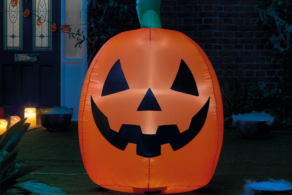 Inflatable Halloween decorations.