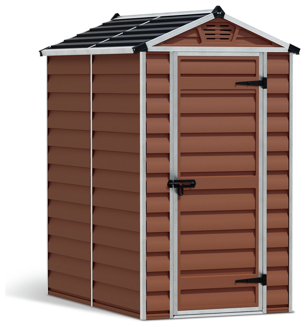 Palram Skylight Plastic 4 x 6ft Garden Shed - Amber Best Price, Cheapest Prices