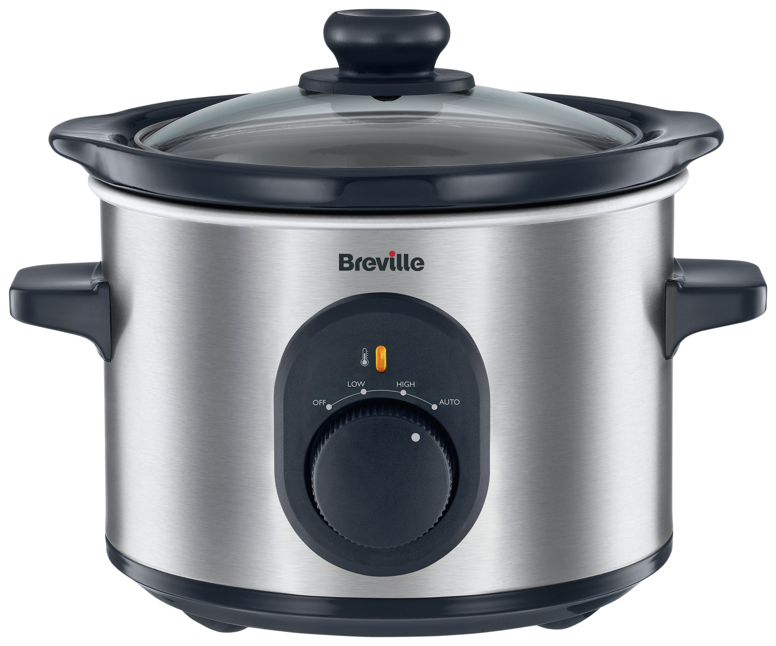 Breville - 15L Compact Slow Cooker - Stainless Steel