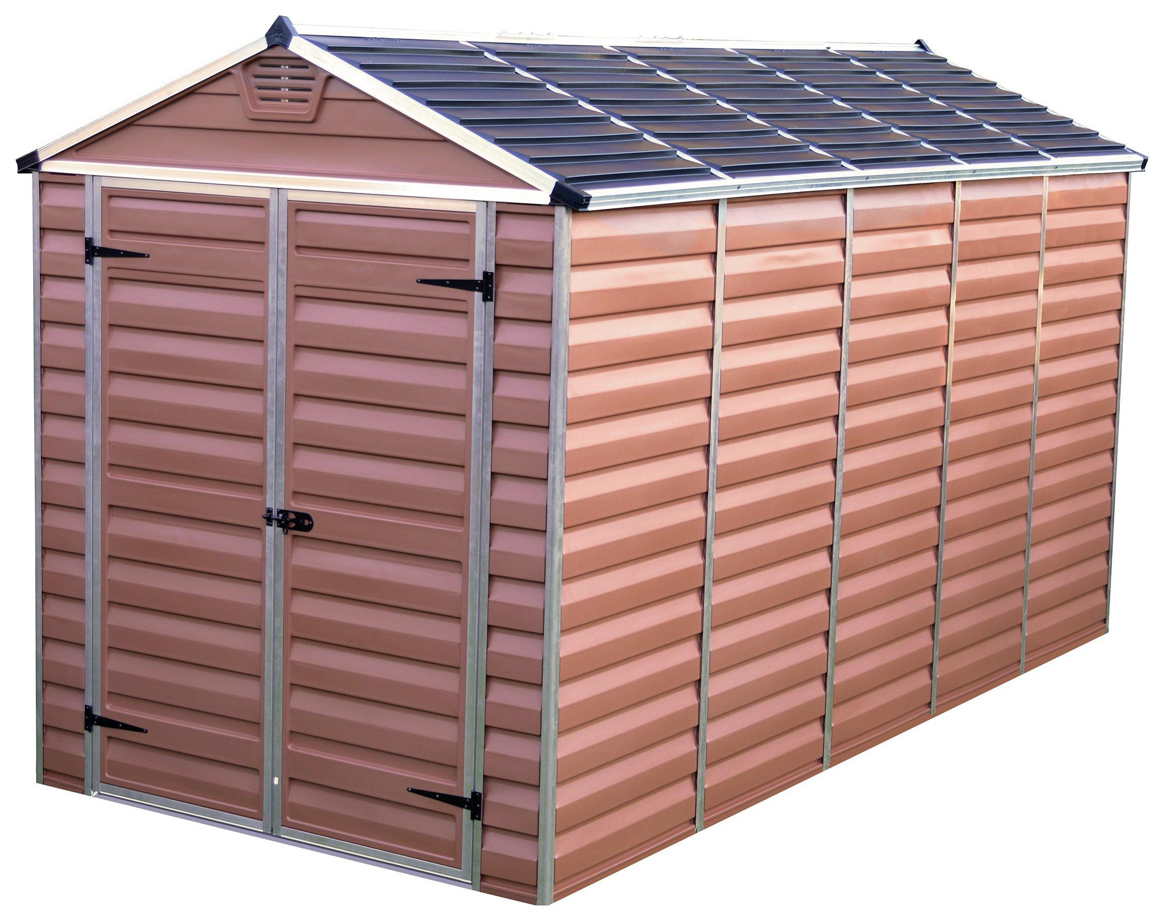 Palram Skylight Plastic 6 x 12ft Garden Shed - Amber