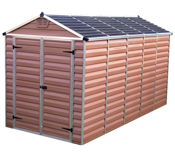Buy Palram Skylight Plastic Amber Shed 6x12ft At Argos