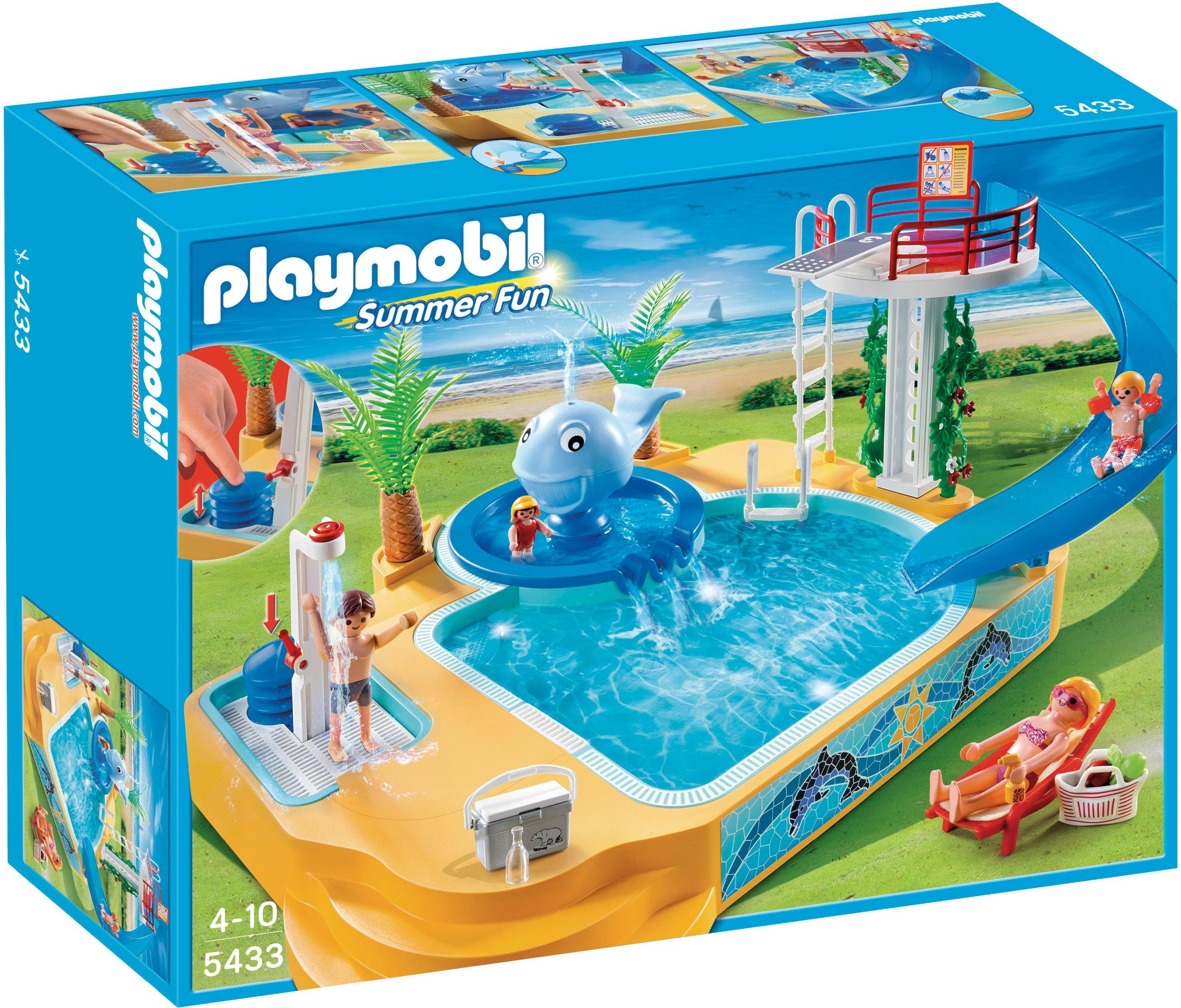 Playmobil Pool And Water Slide 4858 Toys For Christmas Toys Compare And Save