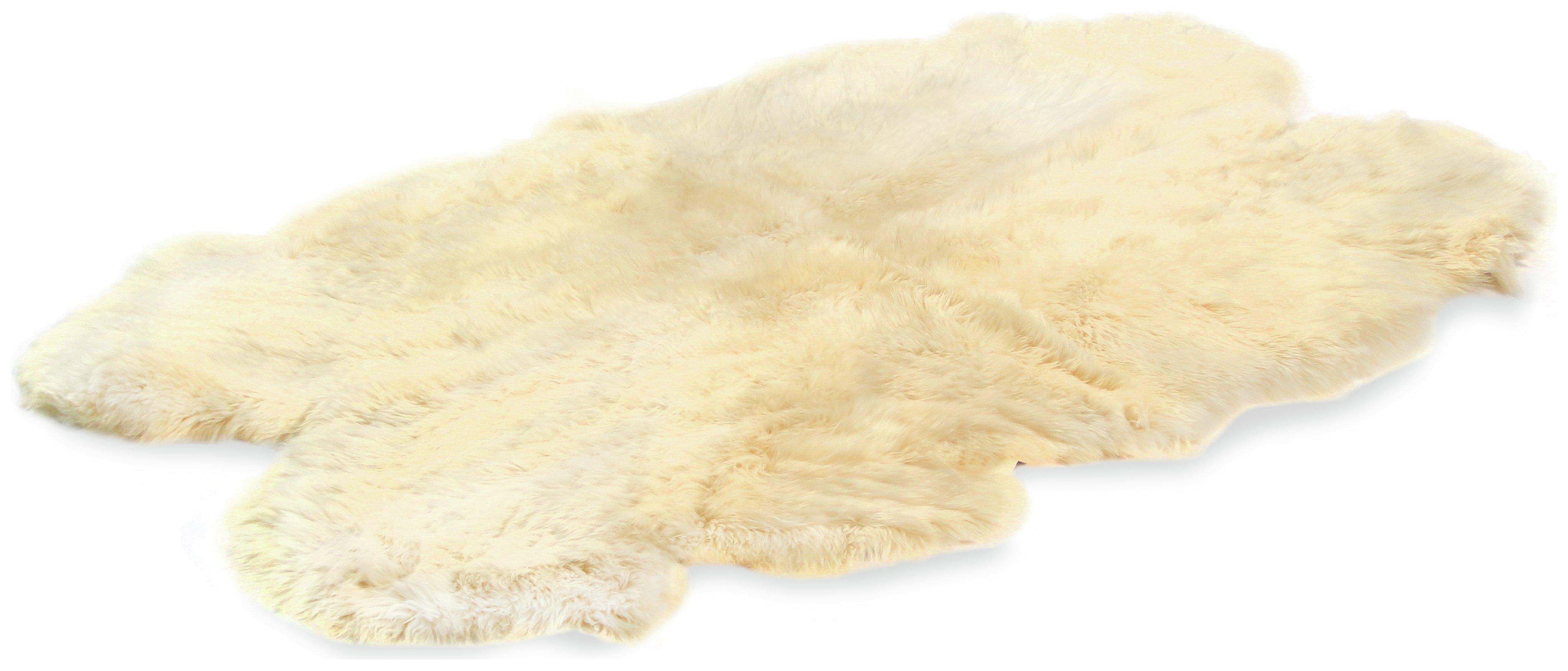 Image of Bowron Sheepskin Longwool Rug - 110x180cm - Champagne