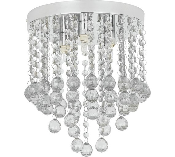 Buy home faith 3 light beaded droplet flush ceiling fitting at home faith 3 light beaded droplet flush ceiling fitting aloadofball Image collections
