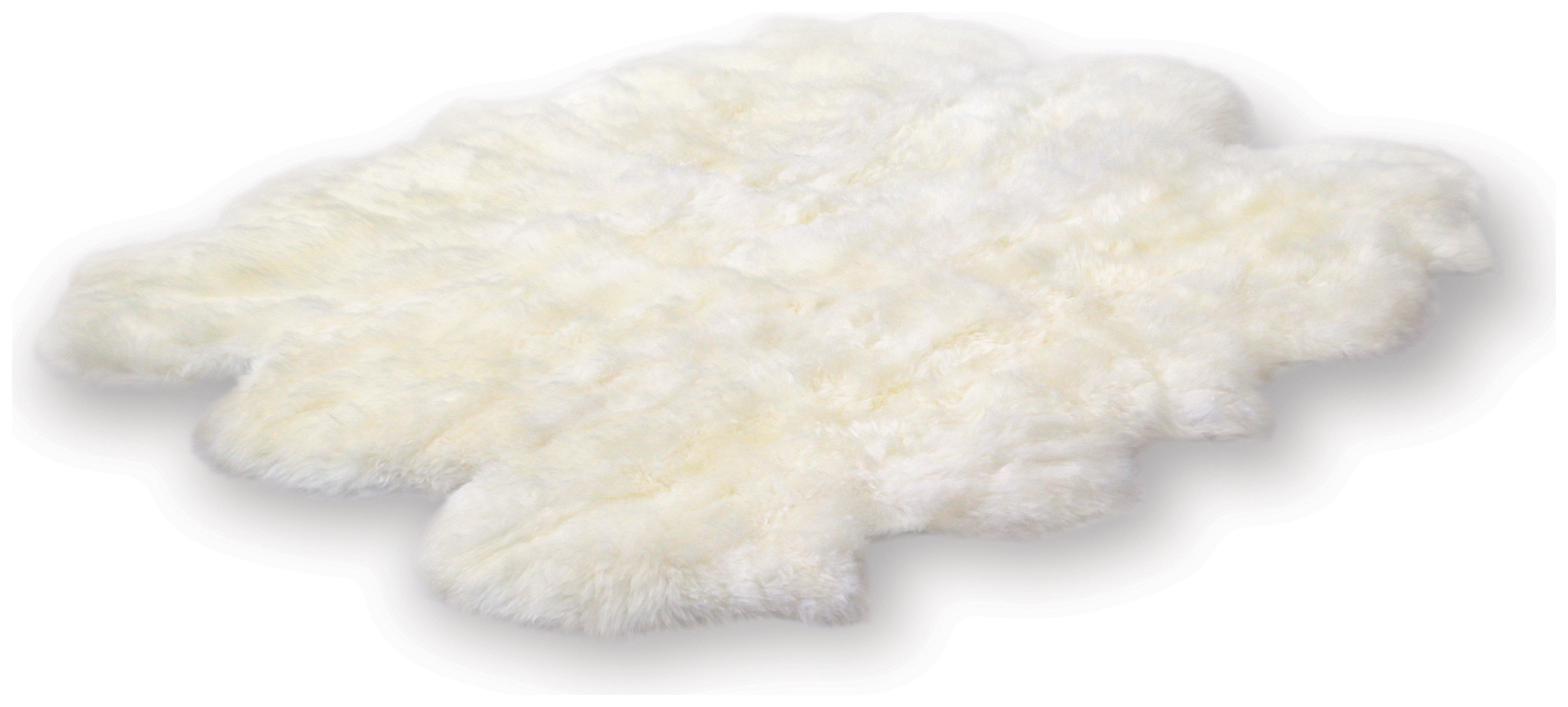 Image of Bowron Sheepskin Longwool Rug 180 x 162cm - Ivory.