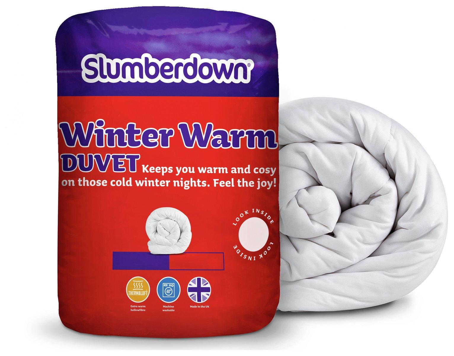 slumberdown  winter warm 15 tog  duvet  single