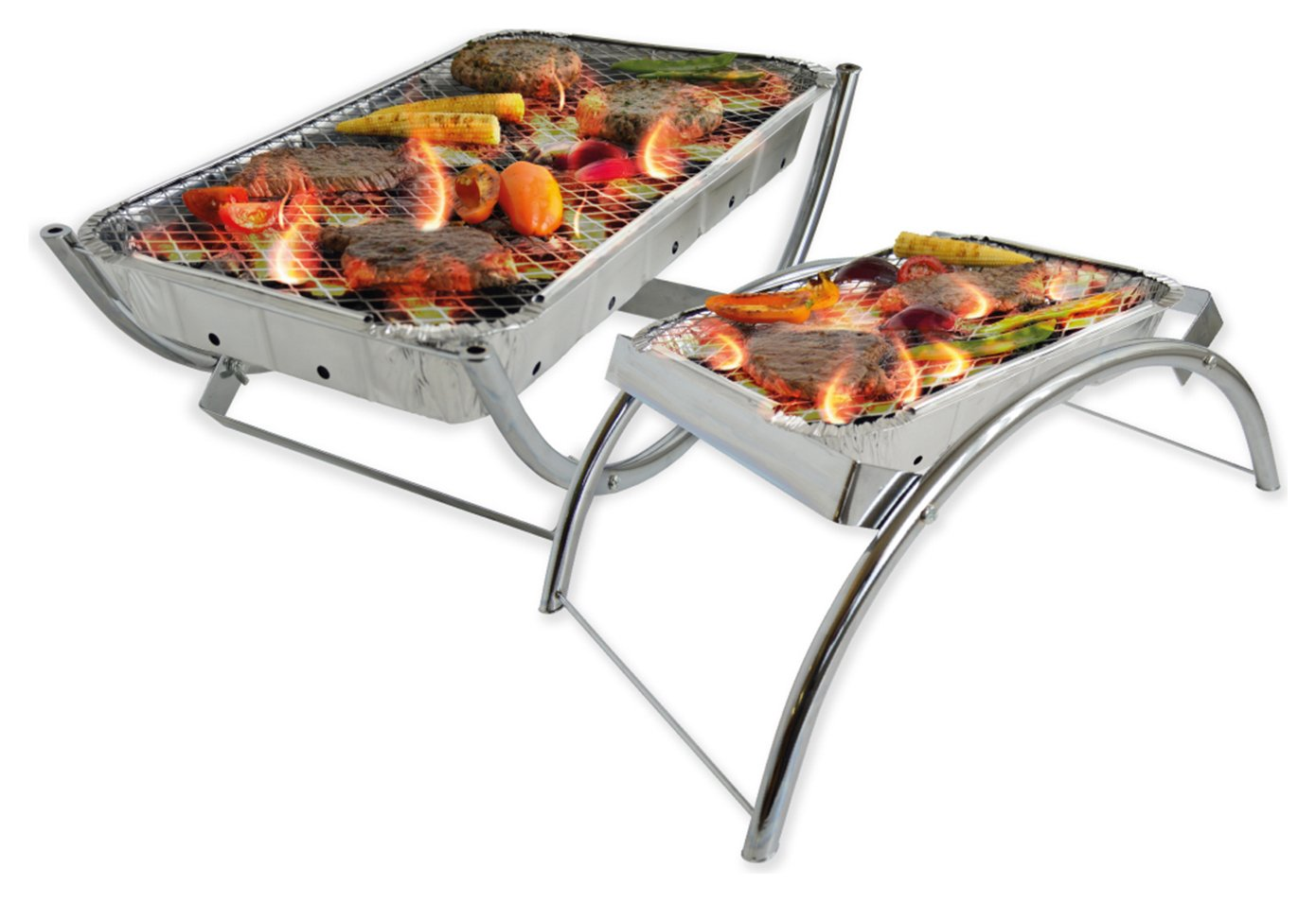 Sale On Bar Be Quick Dual Reusable Barbecue Stand Bar Be