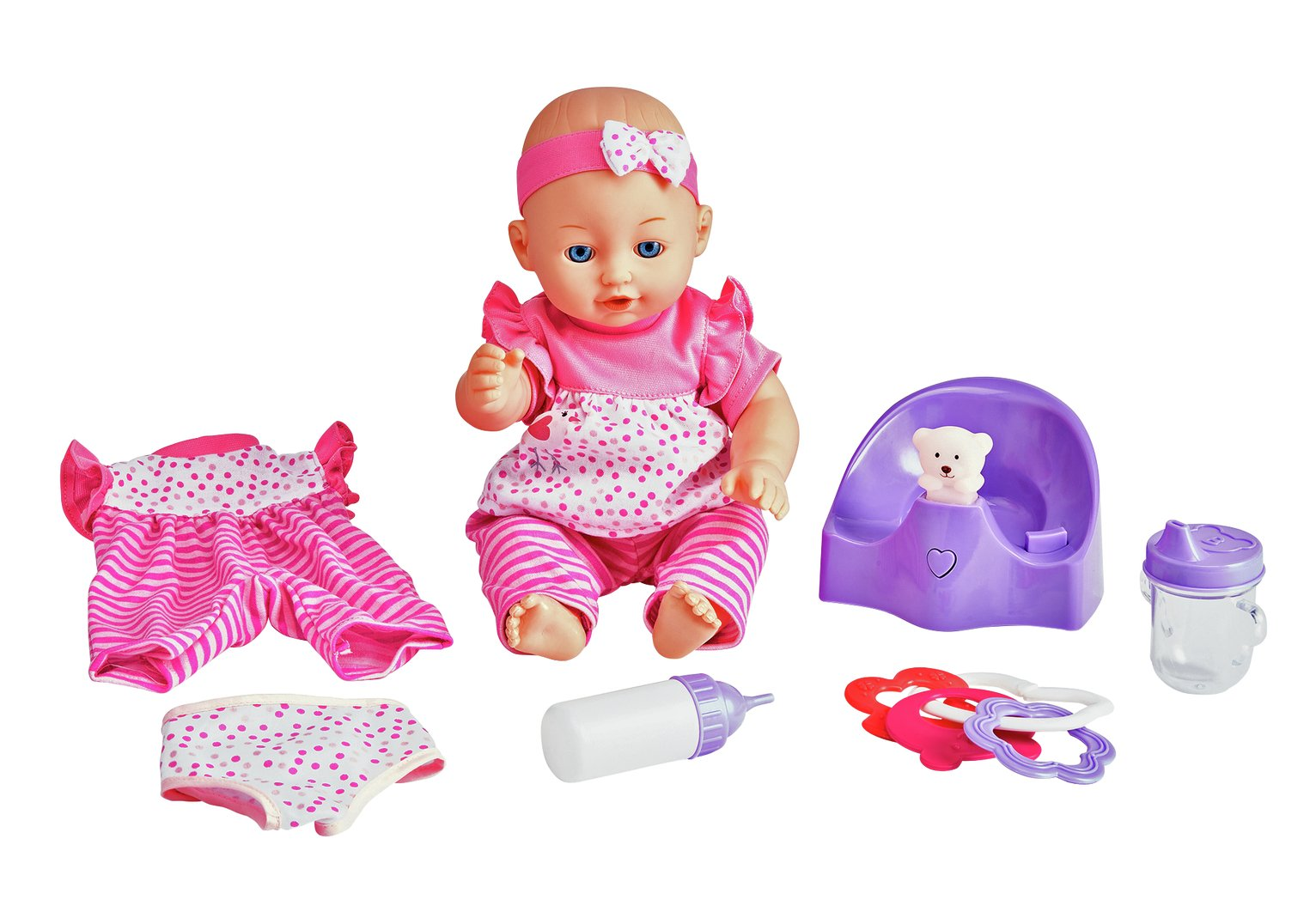 Image of Chad Valley Babies To Love Doll and Interactive Potty Set