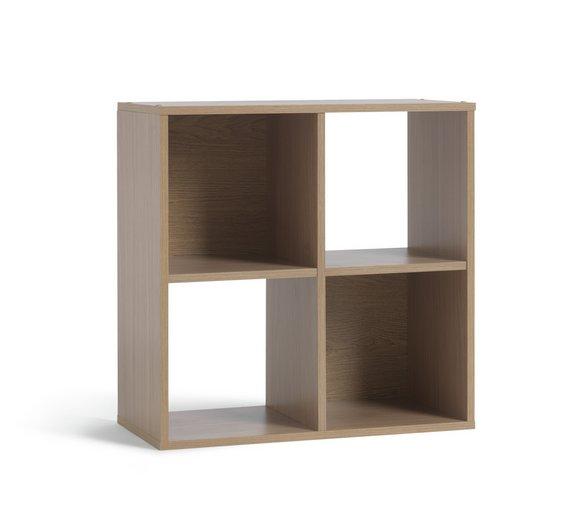buy home squares 4 cube unit oak effect at. Black Bedroom Furniture Sets. Home Design Ideas