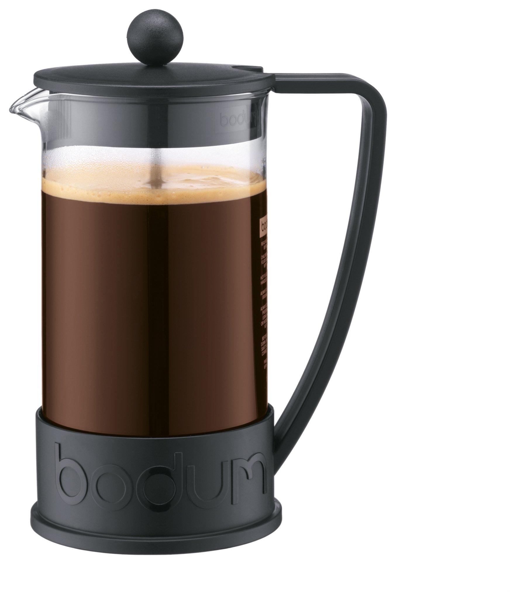 Image of Bodum - Brazil 8 Cup 1 Litre Coffee Maker - Black