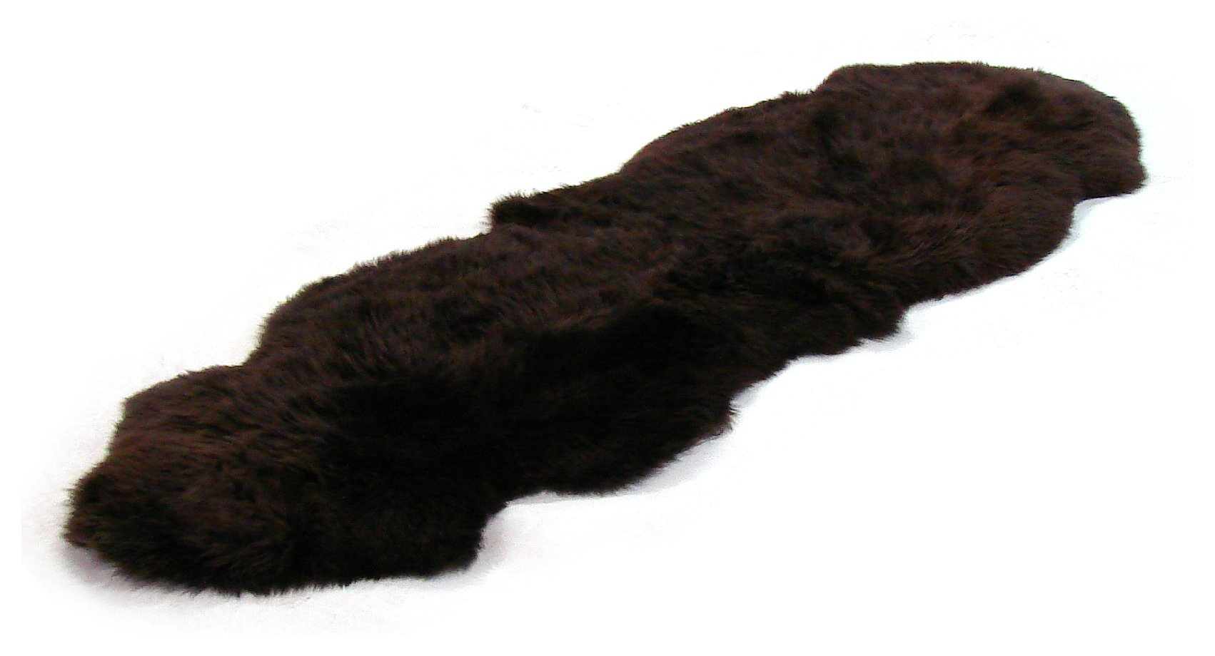Image of Bowron Sheepskin Longwool Rug 180 x 60cm - Dark Brown.