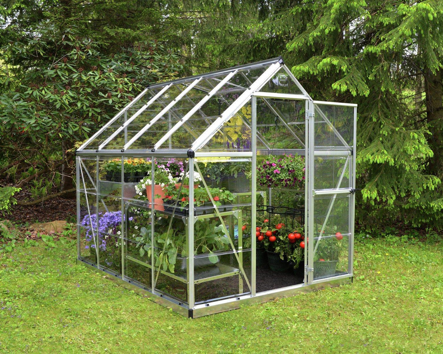 Palram Harmony Silver Greenhouse - 6 x 8ft