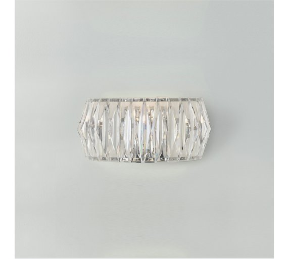 Buy argos home prism chrome wall light clear ceiling and wall argos home prism chrome wall light clear aloadofball Images