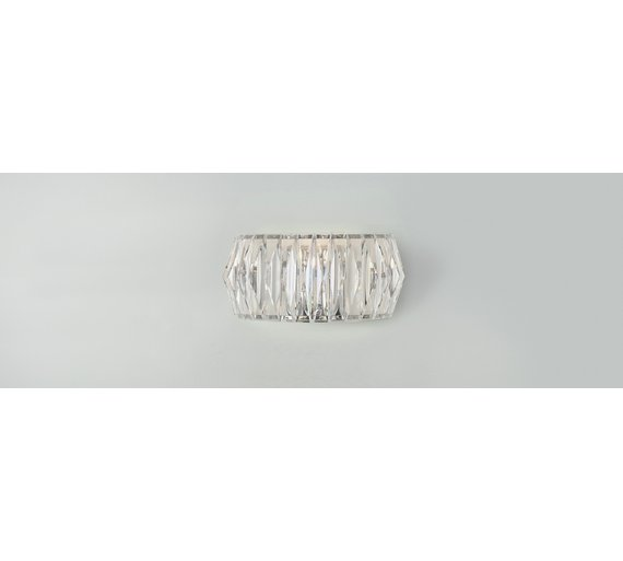 Buy argos home prism chrome wall light clear ceiling and wall click to zoom aloadofball Images