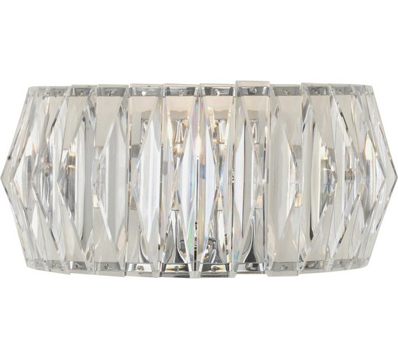 Argos wall lights light shop light ideas buy heart of house prism chrome wall light clear at argos mozeypictures Gallery