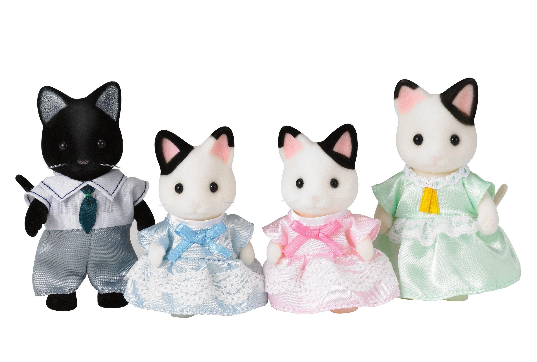 'Sylvanian Families - Tuxedo Cat Family