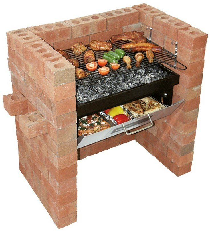 Bar-Be-Quick Built In Grill and Bake BBQ
