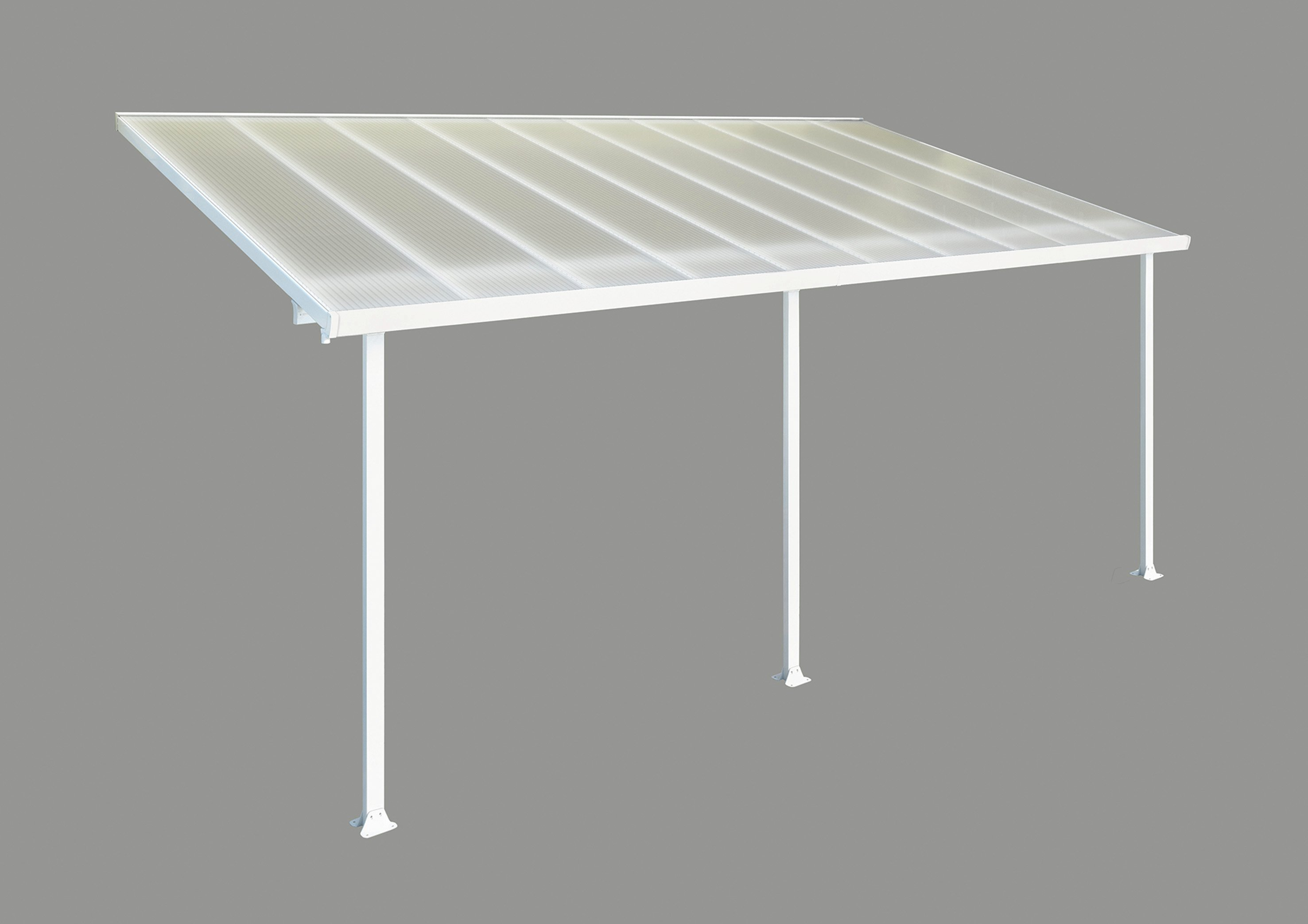 Palram Feria White/Clear Patio Cover 3 x 6.1. lowest price