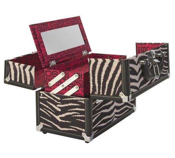 Buy SOHO Zebra Print Vanity Case At Argoscouk