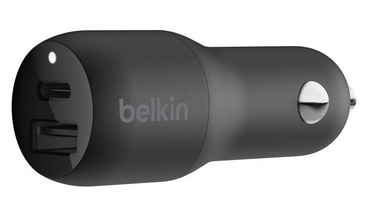 Belkin 30W USB-C Power Delivery Dual Car Charger