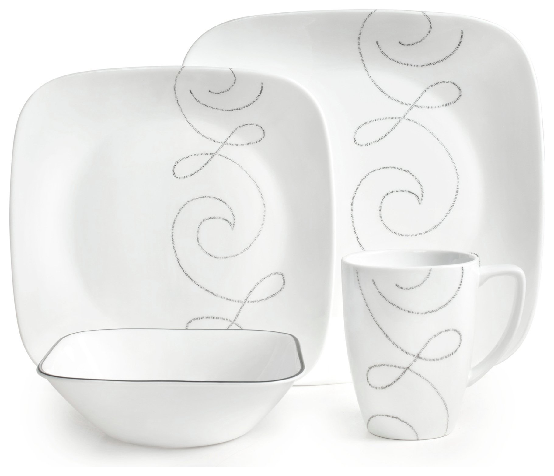 corelle dinner set uk sale. corelle endless thread 16 piece glass dinner set uk sale