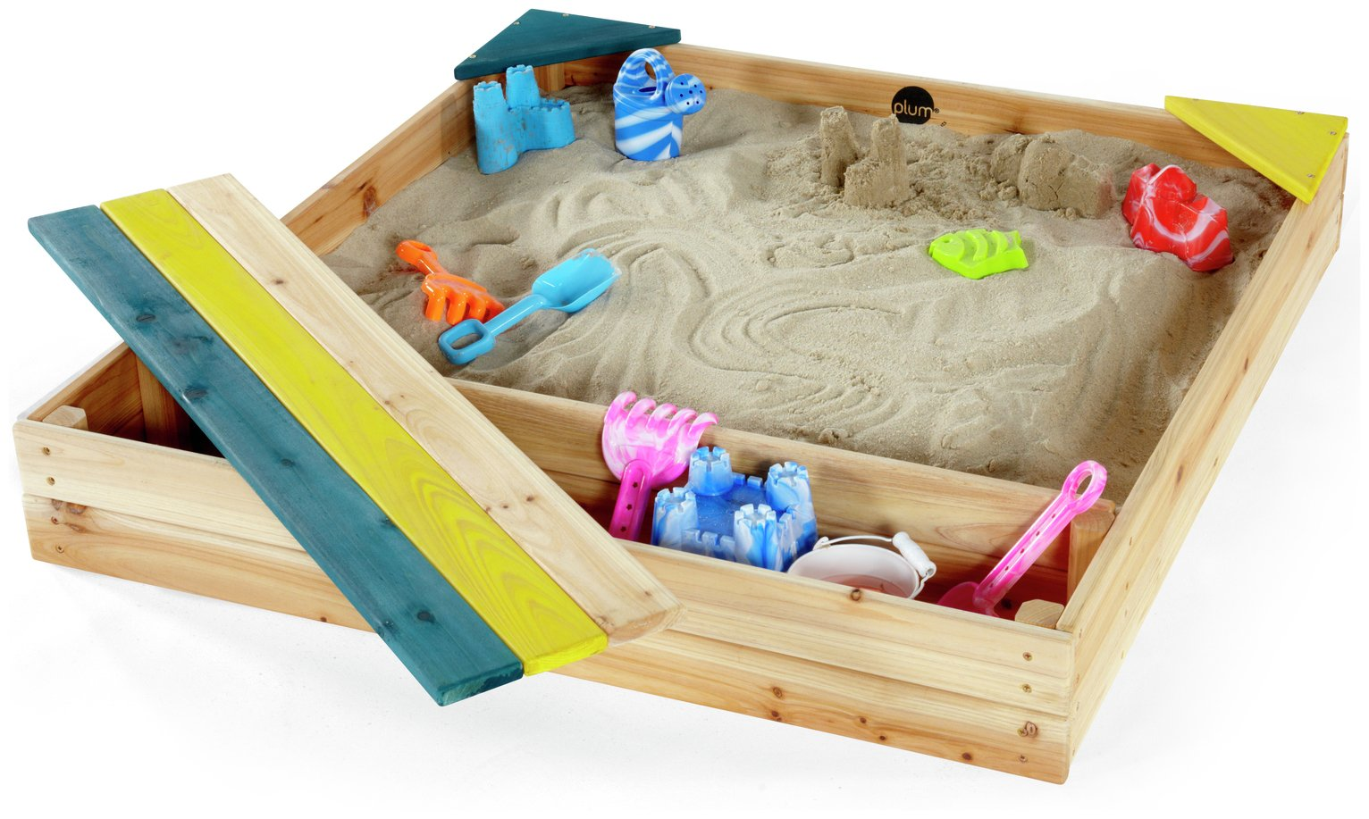 'Plum Store-it Outdoor Play Wooden Sand Pit.