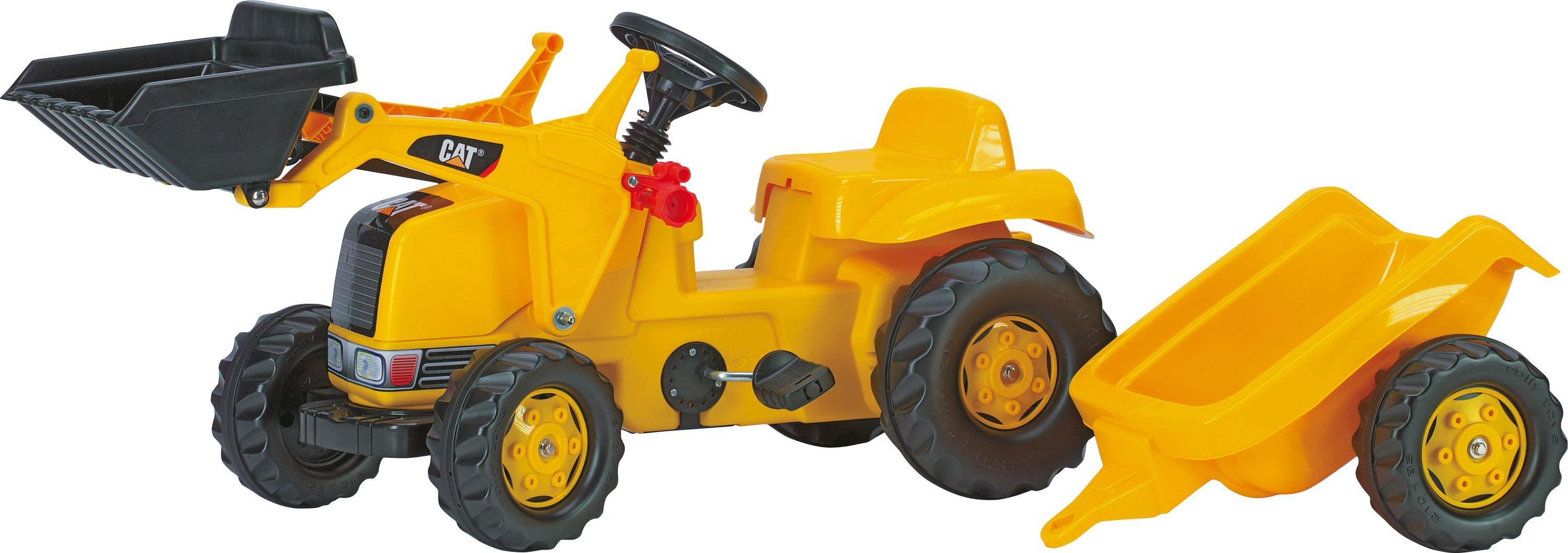 rolly-toys-cat-tractor-with-frontloader-trailer
