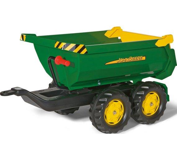 John Deere Baby Gifts Uk : Buy john deere half pipe trailer for child s tractor at