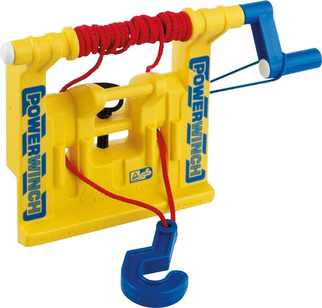 Yellow Winch, Hook and Tow Rope for Child's Tractor.