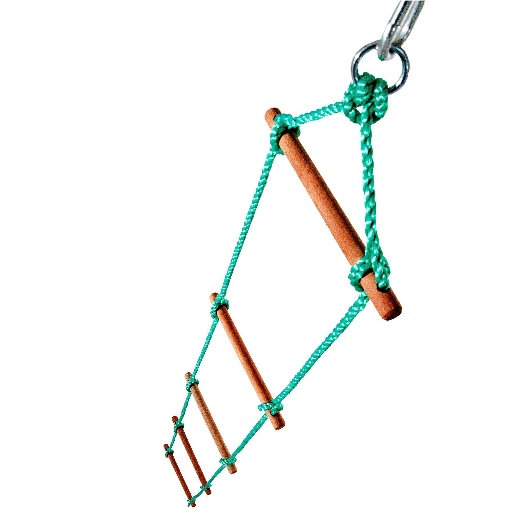 plum wooden rope ladder accessory.