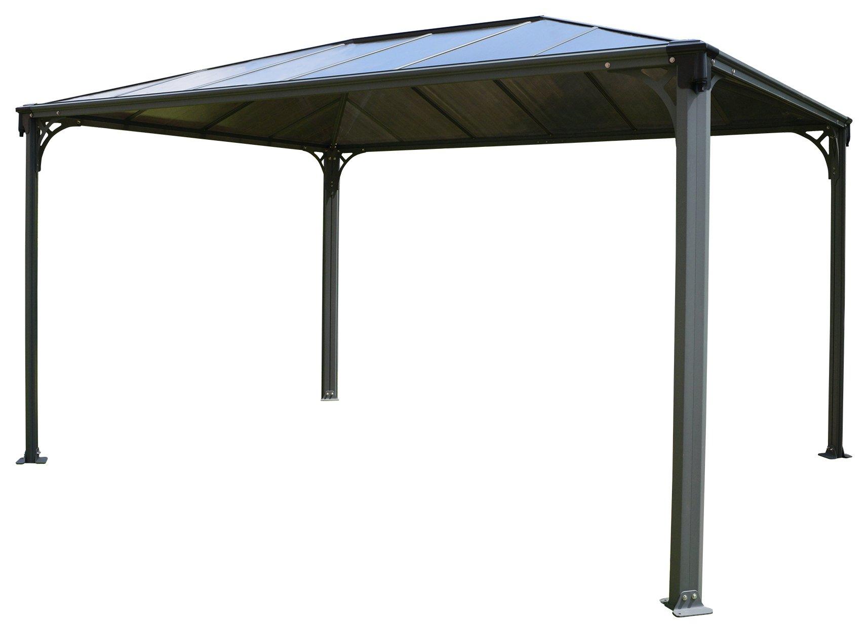 Palram Martinique 9.6x14ft Gazebo - Dark Grey. lowest price