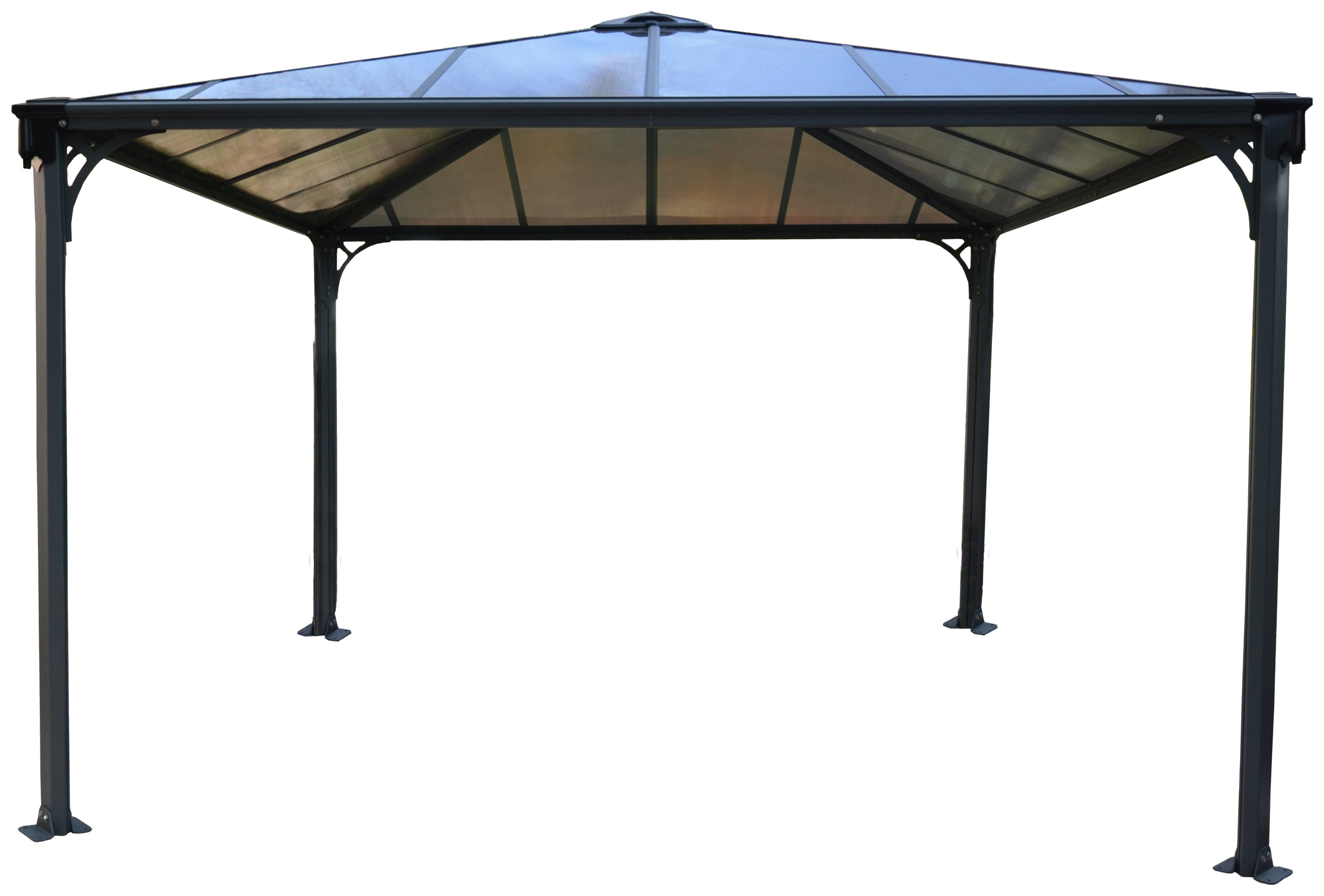 Palram Palermo Gazebo 11.8x11.8ft - Dark Grey. lowest price