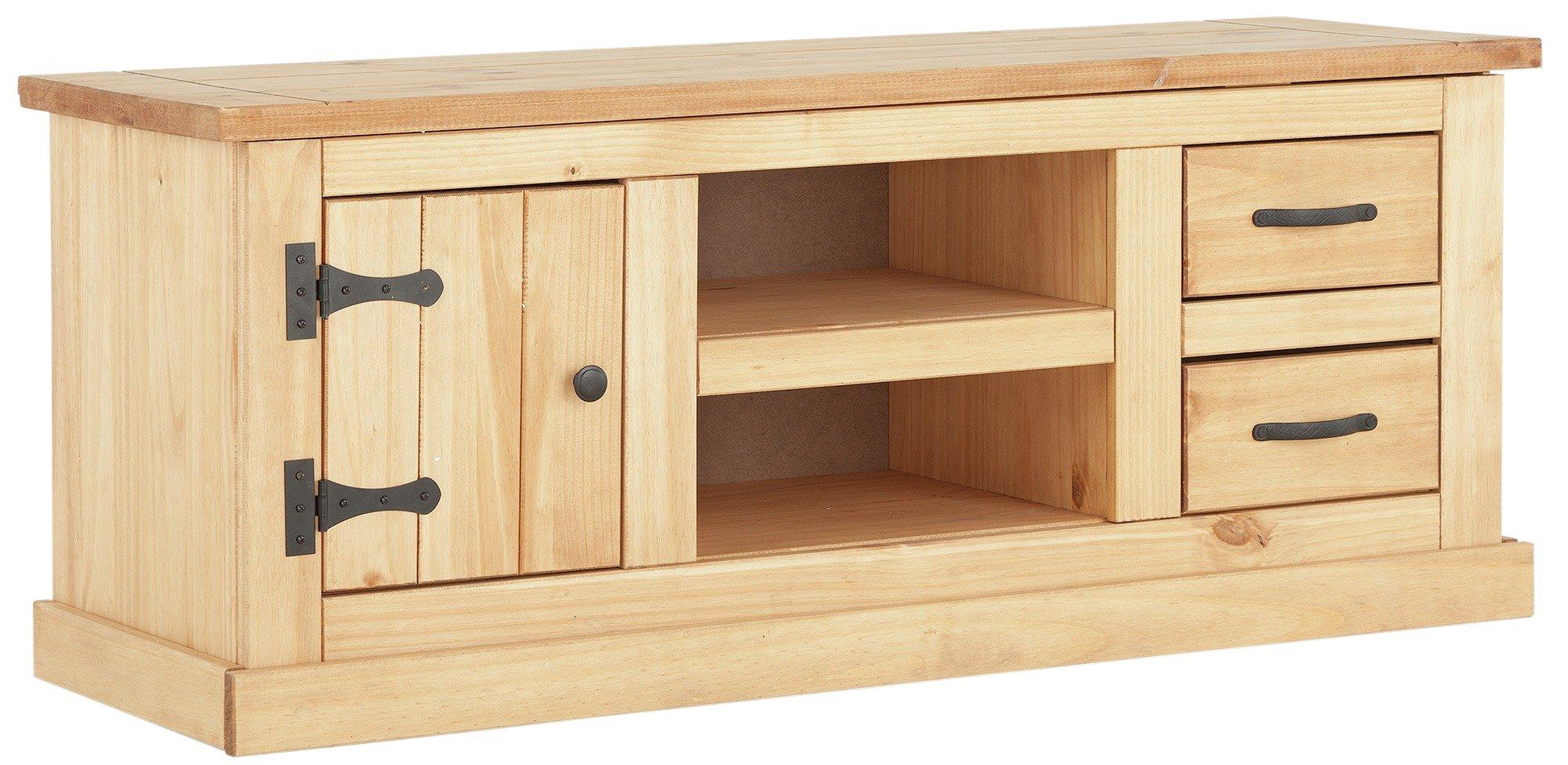 Buy Argos Home San Diego 2 Drawer Solid Pine TV Unit | TV Stands | Argos