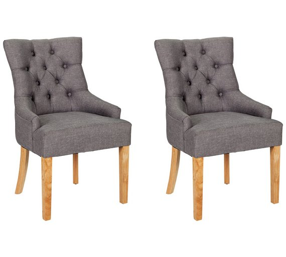 buy argos home pair of cherwell dining chairs charcoal dining
