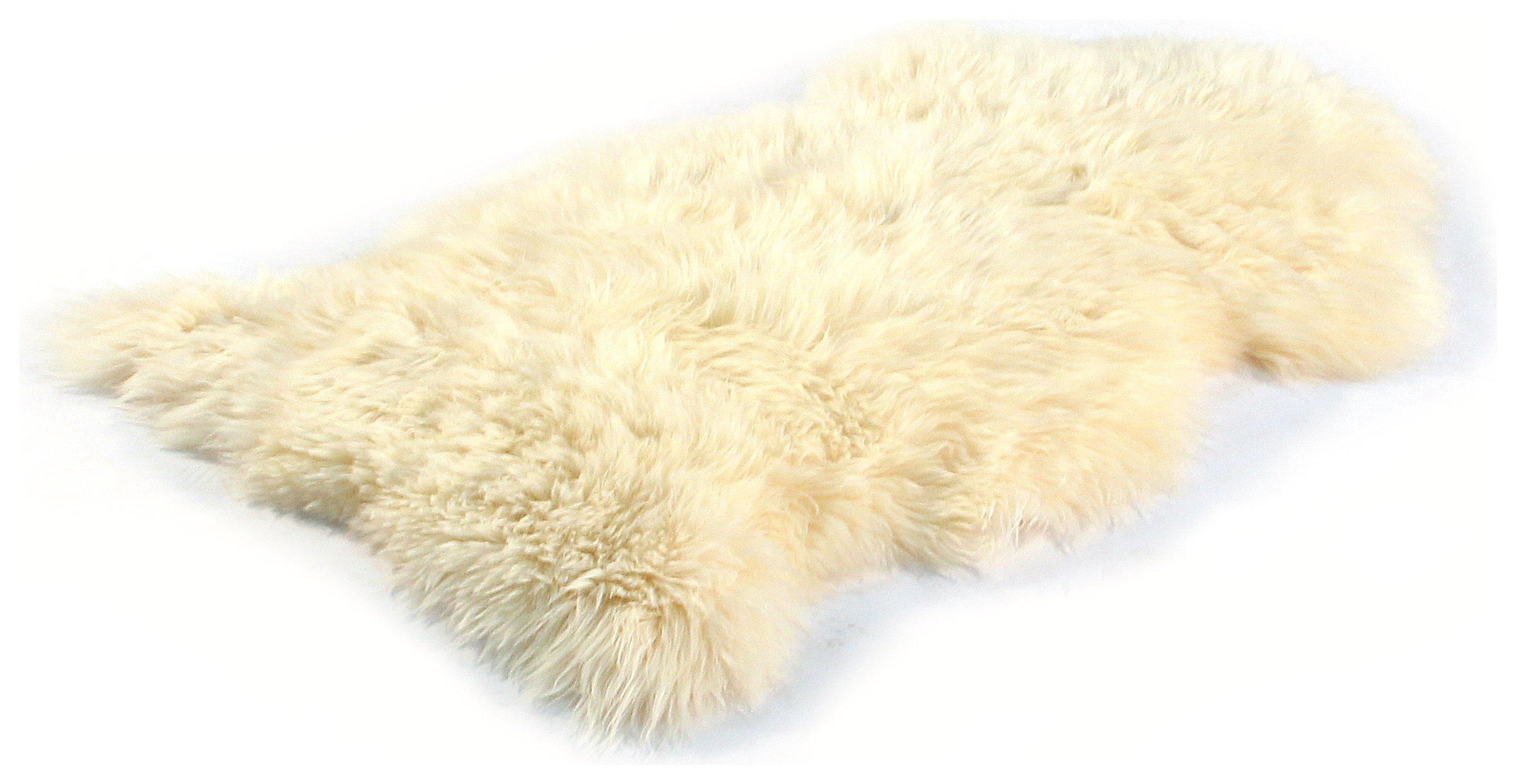 Image of Bowron Sheepskin Longwool Rug - 60x95cm - Champagne