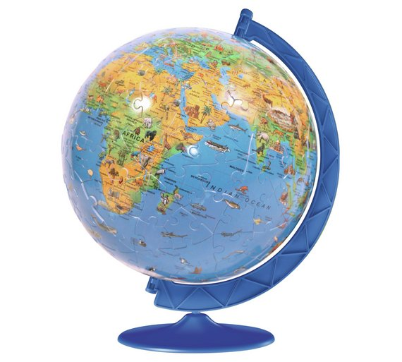 ravensburger childrens world map 180 piece puzzleball
