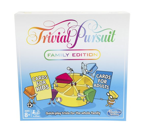 buy trivial pursuit family edition board game from hasbro. Black Bedroom Furniture Sets. Home Design Ideas