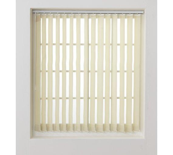 Buy home vertical blind slats pack 244x137cm cream at your online shop for - Vertical blind slat ...