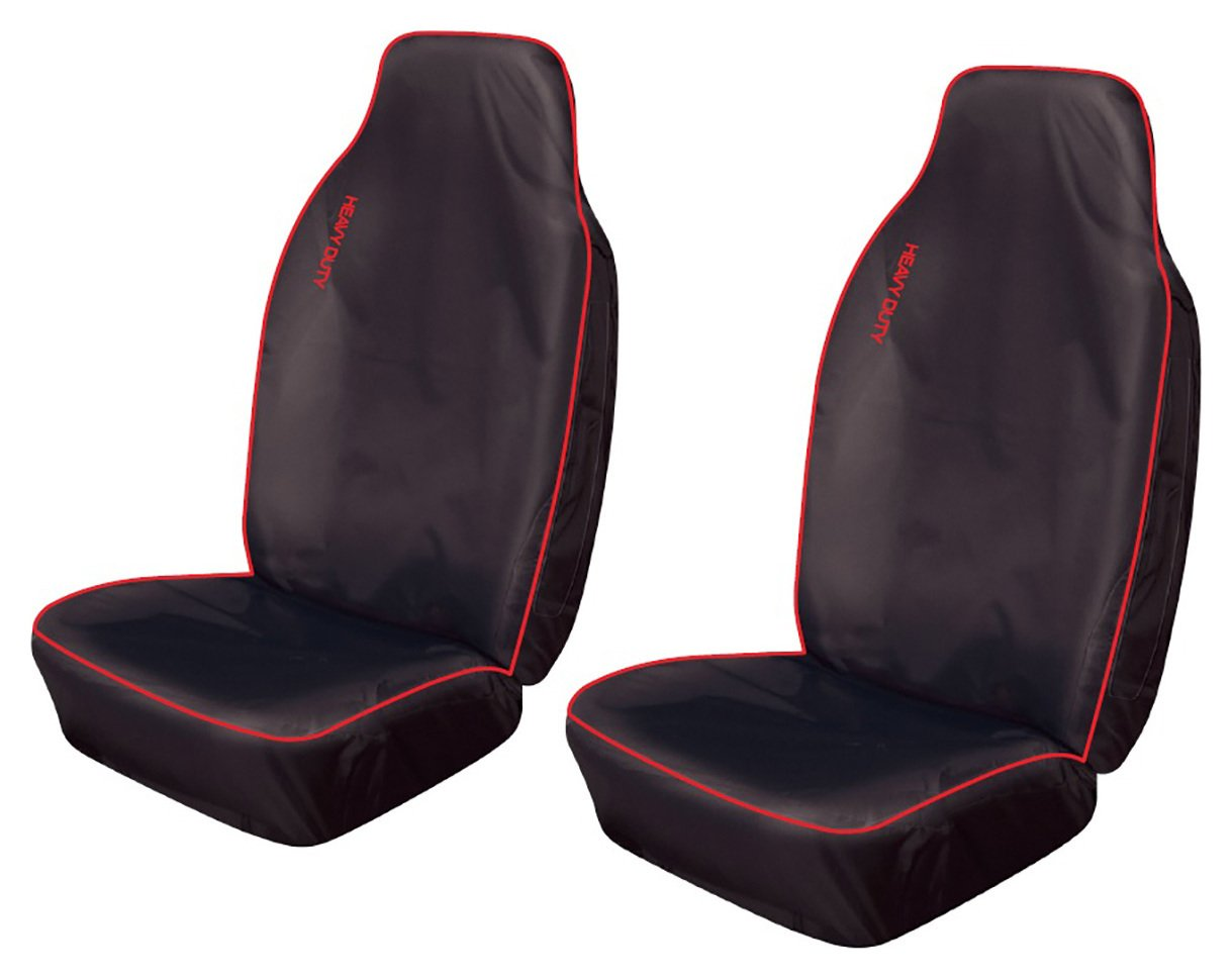 Cosmos - Heavy Duty Sport Extra Front Seat Covers x2 - Red