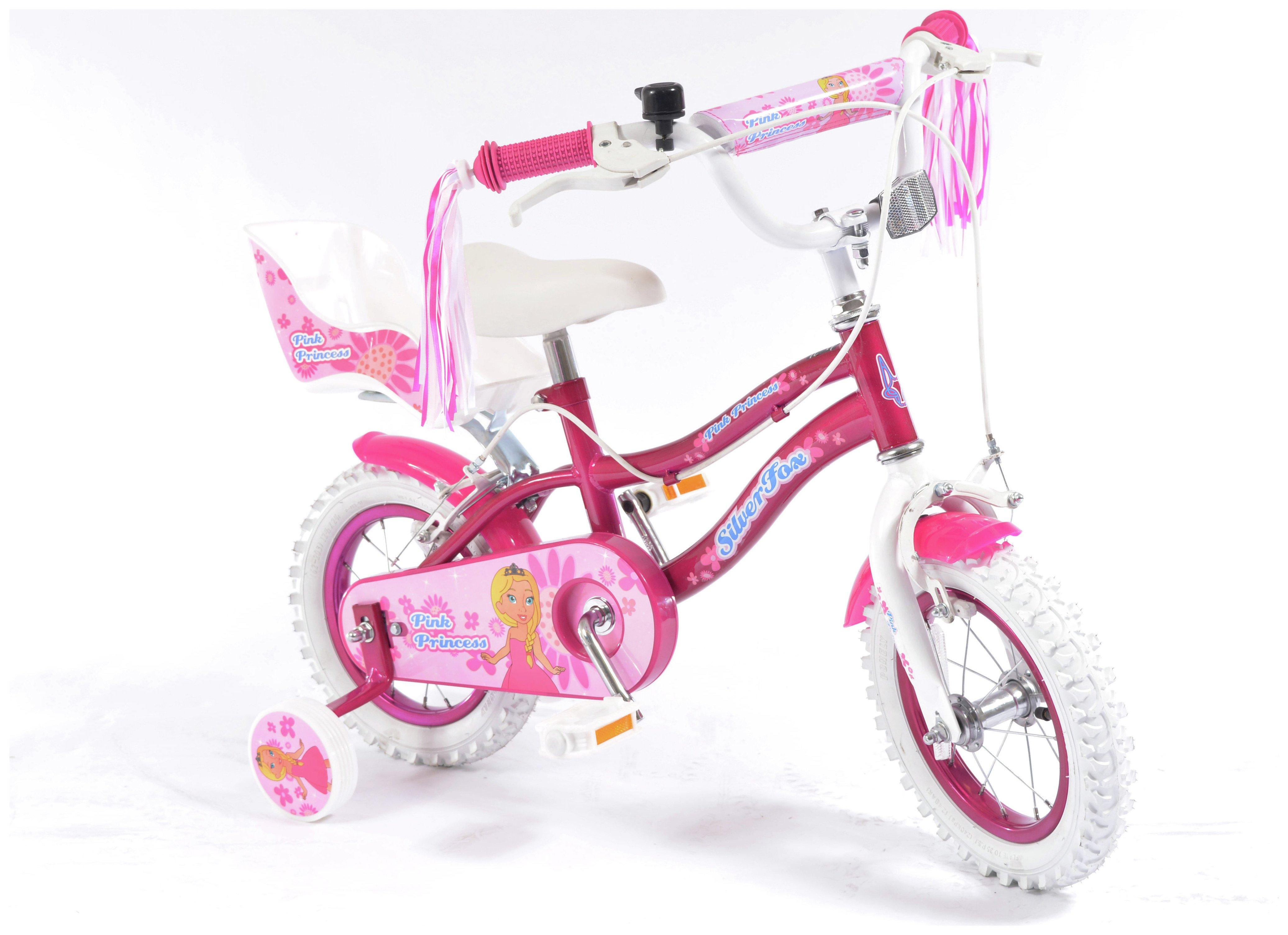 Silverfox Pink Princess 12 Inch Kids Bike