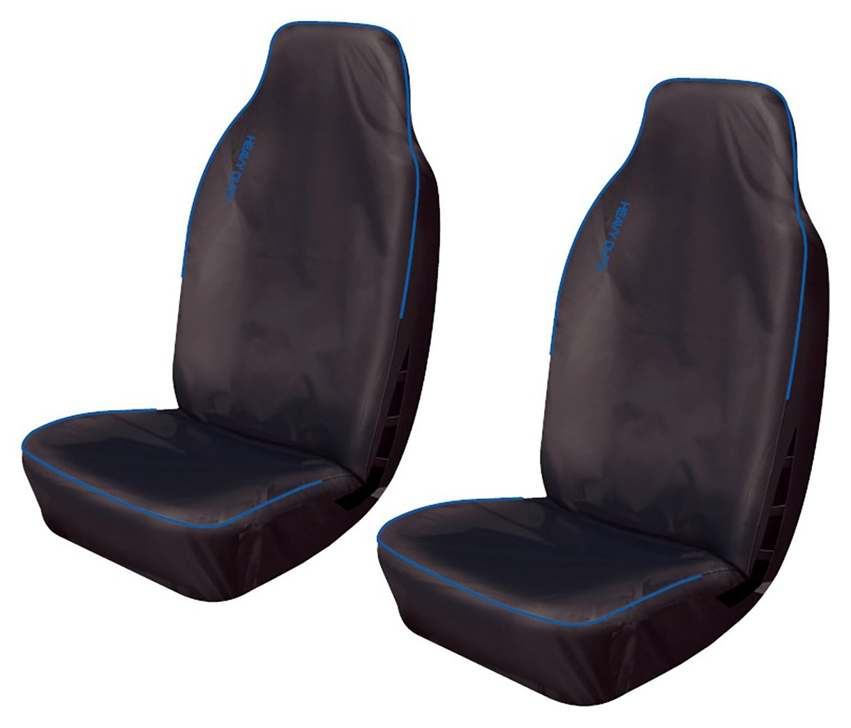Image of Cosmos - Heavy Duty Sport Front Car Seat Covers x2 - Blue