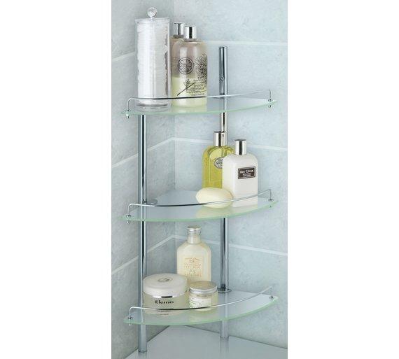 Buy Heart of House Nyla Chrome 3 Shelf Bathroom Shelving Unit ...
