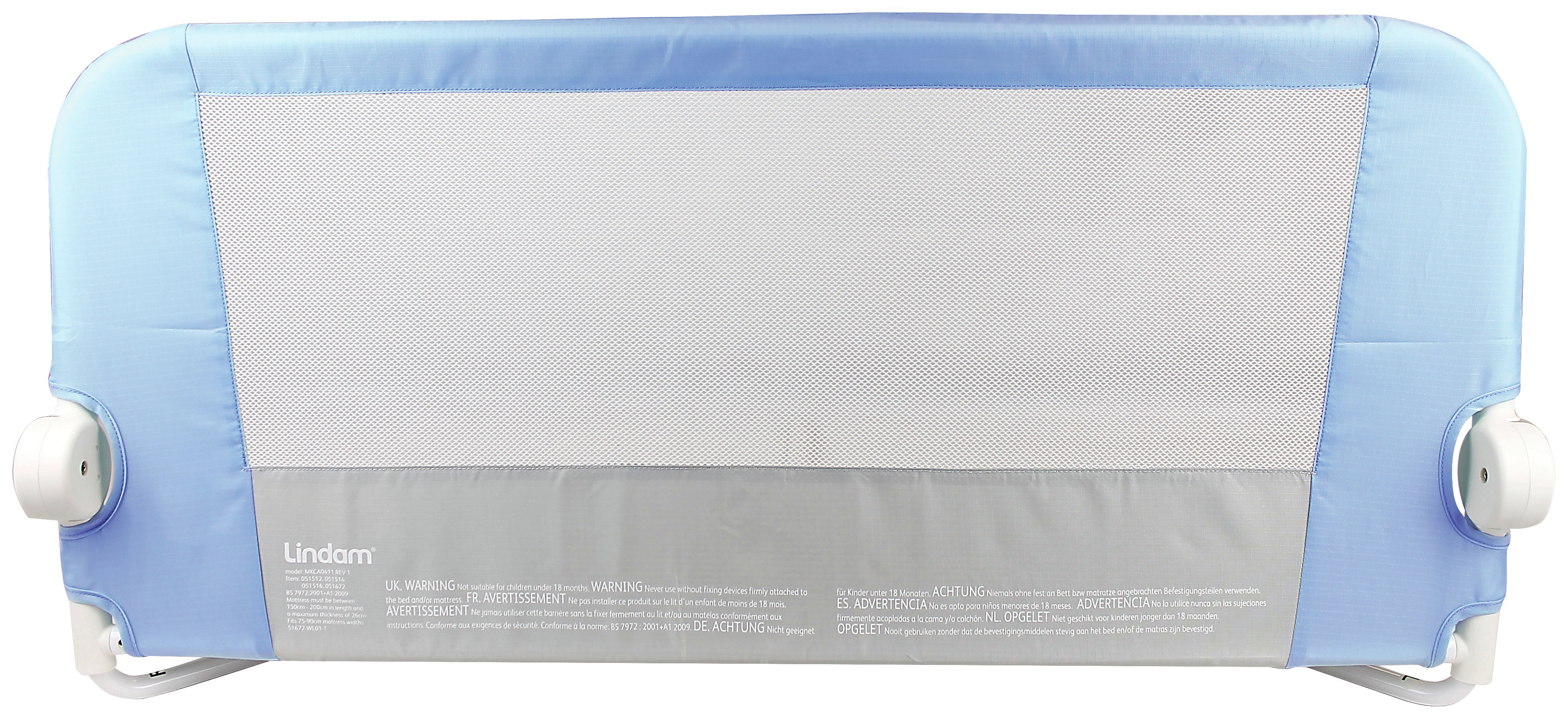 Image of Lindam - Easy Fit Bed Guard - Blue